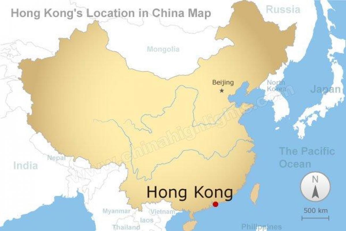 Karte China Hong Kong.China Und Hong Kong Map Karte Von China Und Hong Kong China
