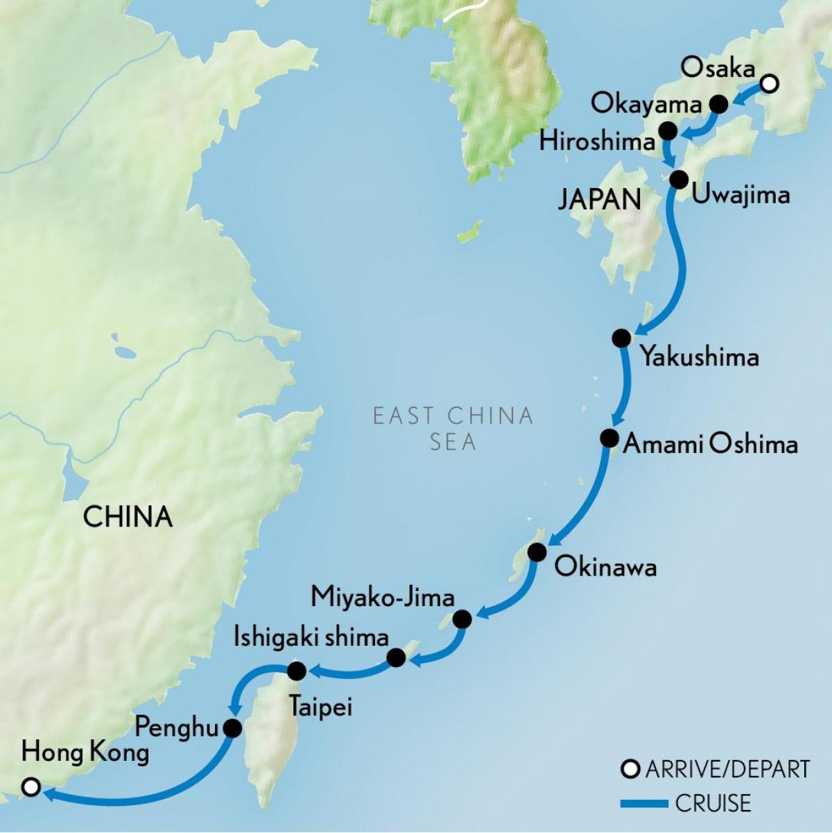 Karte China Hong Kong.Hong Kong Japan Karte Karte Von Japan Und Hongkong China