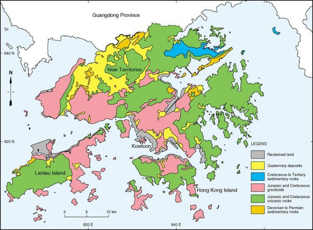 Karte China Hong Kong.Hong Kong Geologische Karte Geologische Karte Von Hong Kong China