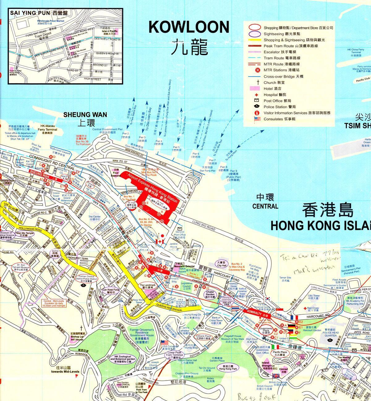 Karte China Hong Kong.Hong Kong Port Karte Hafen Von Hong Kong Karte China
